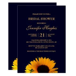 Cheerful Sunflower Bridal Shower Invitation