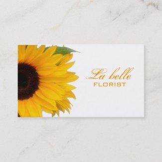 Cheerful Sunflower Business Card