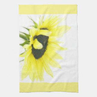 Cheerful Sunflower Tea Towel