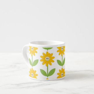 cheerful sunflowers coffee or tea cups 6 oz ceramic espresso cup