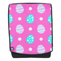 Cheerful sweet pink colorful easter eggs pattern backpack