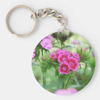 Cheerful Sweet William Flowers Keychain