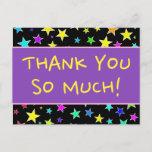 "[ Thumbnail: Cheerful ""Thank You So Much!"" Postcard ]"