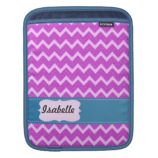 Cheerful Trendy pink animal print chevron Sleeve For iPads