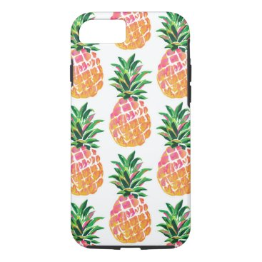 Beach Themed Cheerful Tropical Hawaiian Pineapple iPhone 8/7 Case