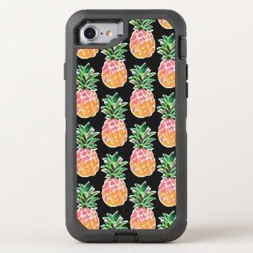 Beach Themed Cheerful Tropical Hawaiian Pineapple OtterBox Defender iPhone 8/7 Case