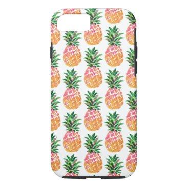 Beach Themed Cheerful Tropical Hawaiian Pineapple Pattern iPhone 8/7 Case
