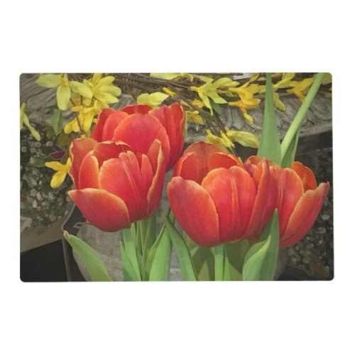 Cheerful Tulips Placemat