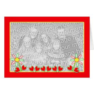 Cheerful Valentine photo template Card