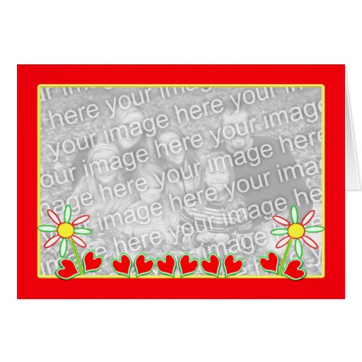 Cheerful Valentine (photo template) Greeting Card