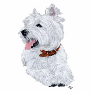 Cheerful West Highland White Terrier Statuette