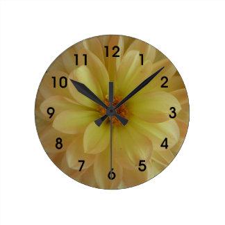 Cheerful Yellow Flower Clock