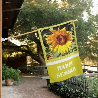 Cheerful Yellow Sunflower  Yard and Garden  House Flag