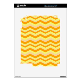 Cheerful ZigZags Decals For iPad 2