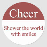 Cheerfully shower the world with smiles stickers