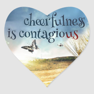 Cheerfulness Heart Sticker