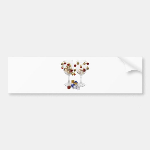 CheerfulWineGlasses053110 Bumper Sticker