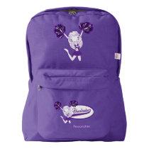 Cheering Cheerleaders | Purple Backpack