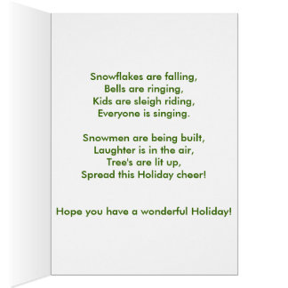 Cheering Christmas Card