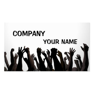 Cheering crowds business card
