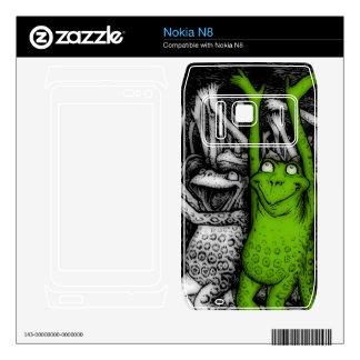 Cheering Frogs Nokia N8 Skin