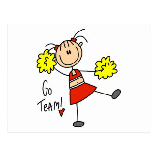 Cheering Go Team Tshirts and Gifts Post Cards