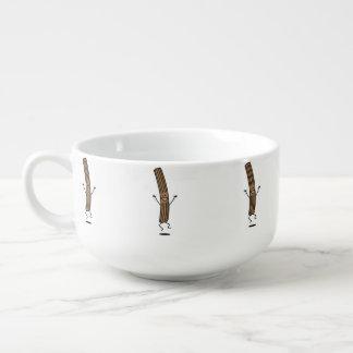 Cheering Jumping Churro Soup Mug