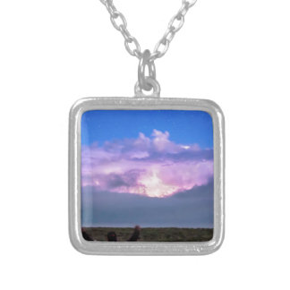 Cheering Nature On Silver Plated Necklace
