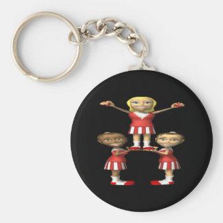 Cheering Pyramid Basic Round Button Keychain