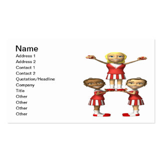 Cheering Pyramid Double-Sided Standard Business Cards (Pack Of 100)