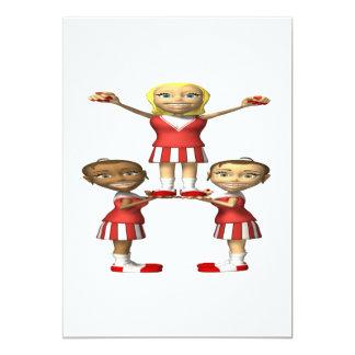 Cheering Pyramid Card