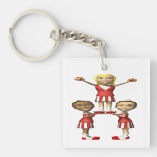 Cheering Pyramid Acrylic Key Chains