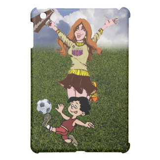 Cheering Soccer Mom - Wearing Soccer Mom Shirt Case For The iPad Mini