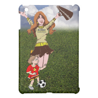Cheering Soccer Mom - Wearing Soccer Mom Shirt Cover For The iPad Mini