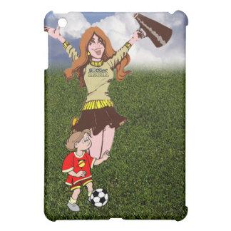 Cheering Soccer Mom - Wearing Soccer Mom Shirt iPad Mini Cases