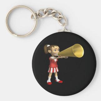 Cheerleader 3 basic round button keychain