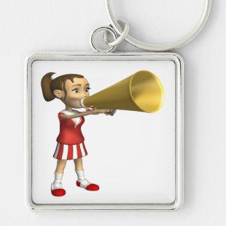 Cheerleader 3 keychain