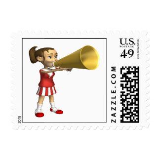 Cheerleader 3 postage stamp