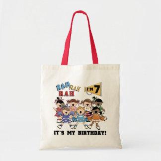 Cheerleader 7th Birthday Tshirts and Gifts Tote Bag