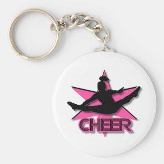 Cheerleader Basic Round Button Keychain