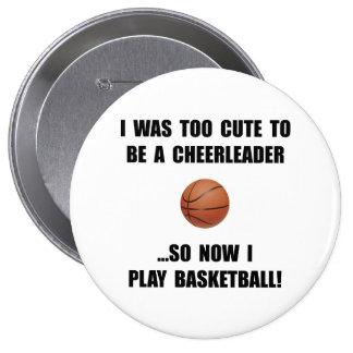 Cheerleader Basketball Pinback Button