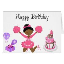 Cheerleader Birthday card AA