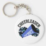 Cheerleader Blue Keychain