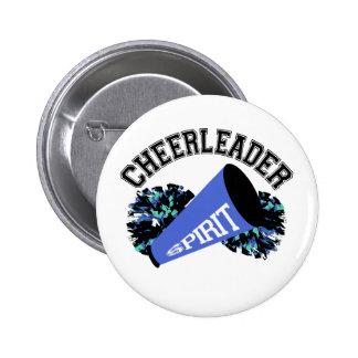 Cheerleader Blue Pinback Button