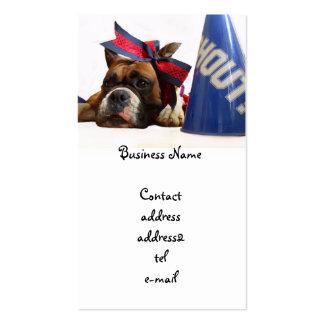 Cheerleader boxer business card
