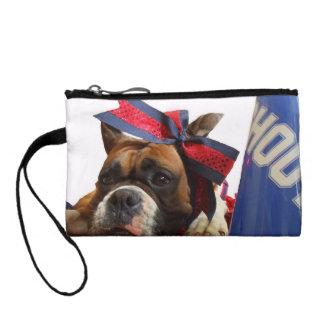 Cheerleader boxer dog coin wallet