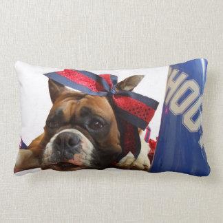 Cheerleader boxer dog lumbar pillow