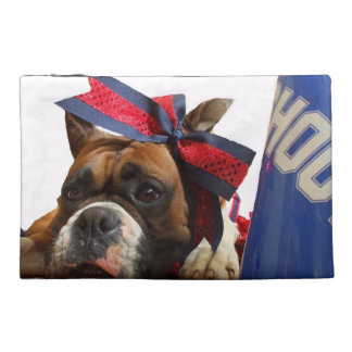 Cheerleader boxer dog travel accessory bags