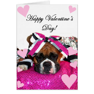 Cheerleader Boxer Happy Valentine's Day card