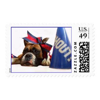 Cheerleader boxer postage
